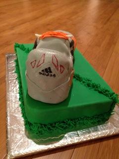 gâteau chaussure de foot