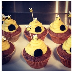cupcakes abeilles