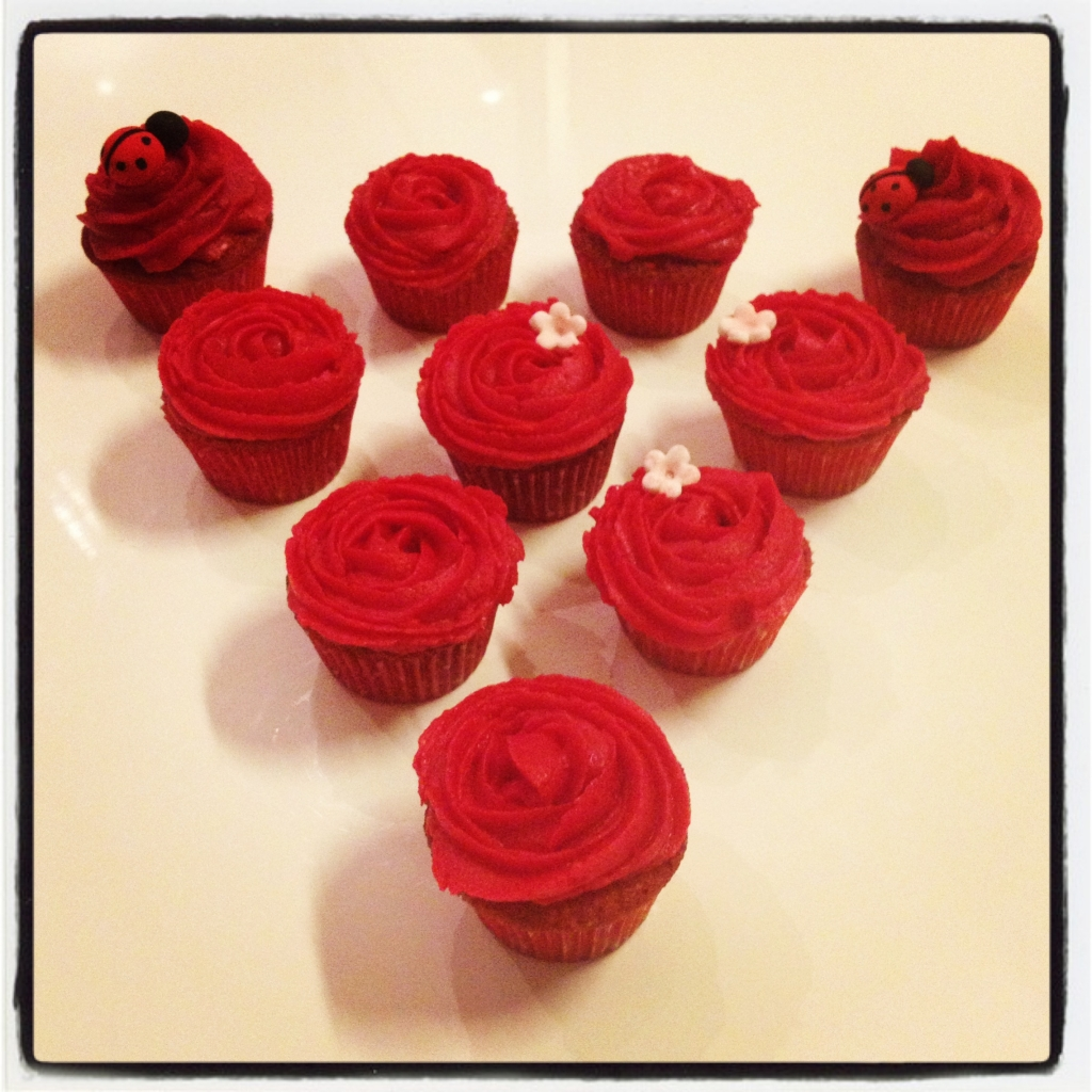 cupcakes rouges