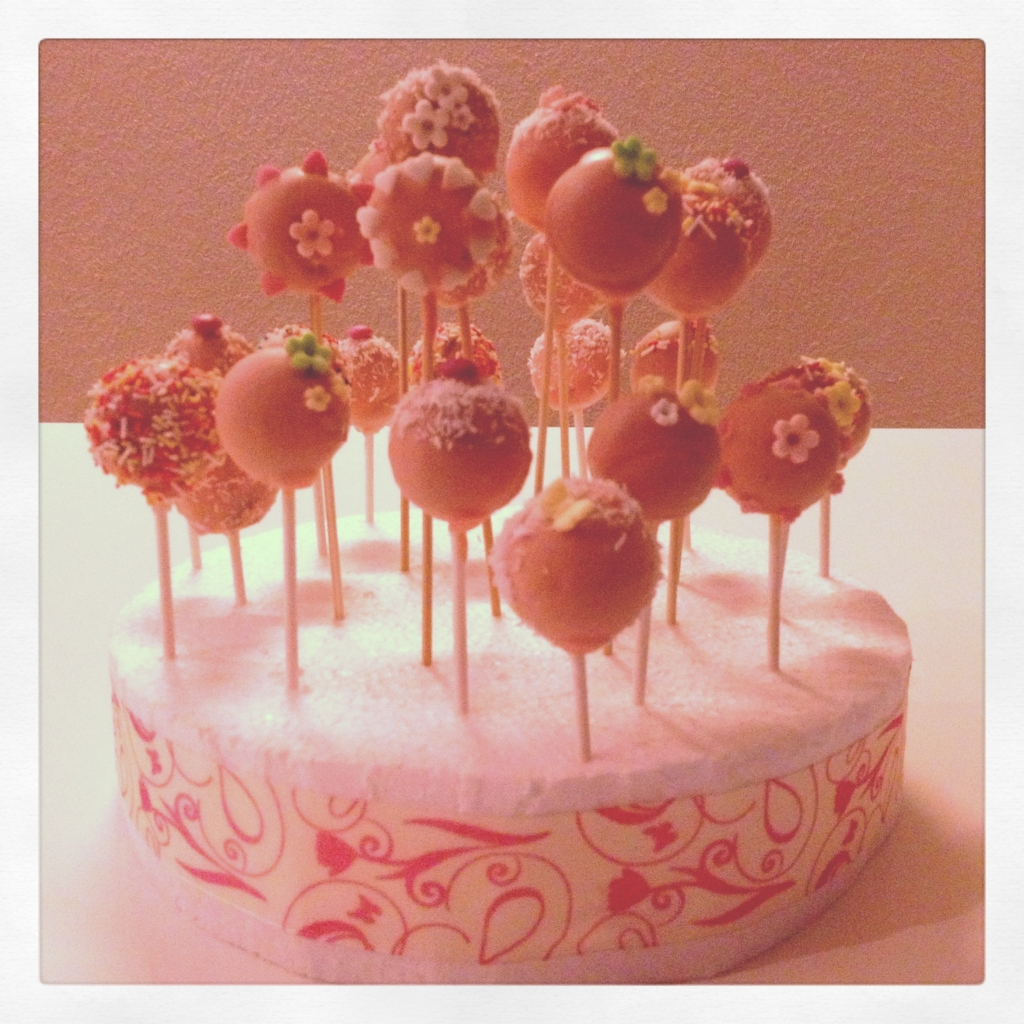 cakepops rose