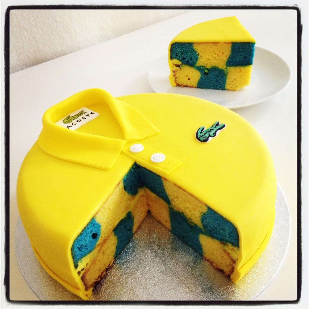 gâteau au citron (aux couleurs fenerbahce) - ganache citron. Un délice!!!