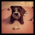 gâteau bulldog anglais