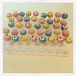 Cake Pops bleu/rose/jaune