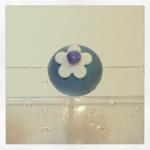 cake pop fleur bleu