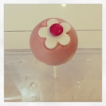 cake pop fleur rose