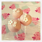 cake pop rose pâle