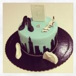 New York shopping cake