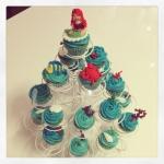 Cupcakes de la petite sirène