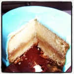 gâteau vanille - ganache moka