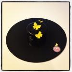 gâteau noir papillon