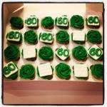 cupcakes vert pour un maçon