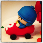 pocoyo in a car