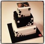 gâteau noir/blanc