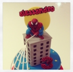 spiderman cake topper