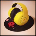 Gâteau casque de DJ