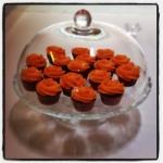 orange roses cupcakes