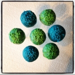 cake pops bleu/vert
