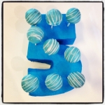 cake pops bleu/blanc