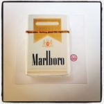 Paquet de cigarettes en gâteau
