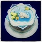 Gâteau Cygne Royal Icing