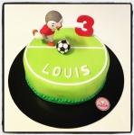 gâteau Tchoupi footballeur