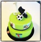 gâteau fan de foot