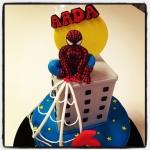 spiderman sugar paste