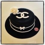 gâteau noir-blanc