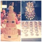 gâteau rose et blanc