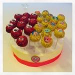 cake pops spiderman & palace pets