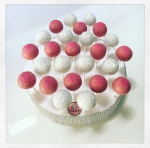 pink white cake pops