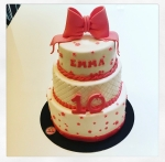 gâteau noeud rose